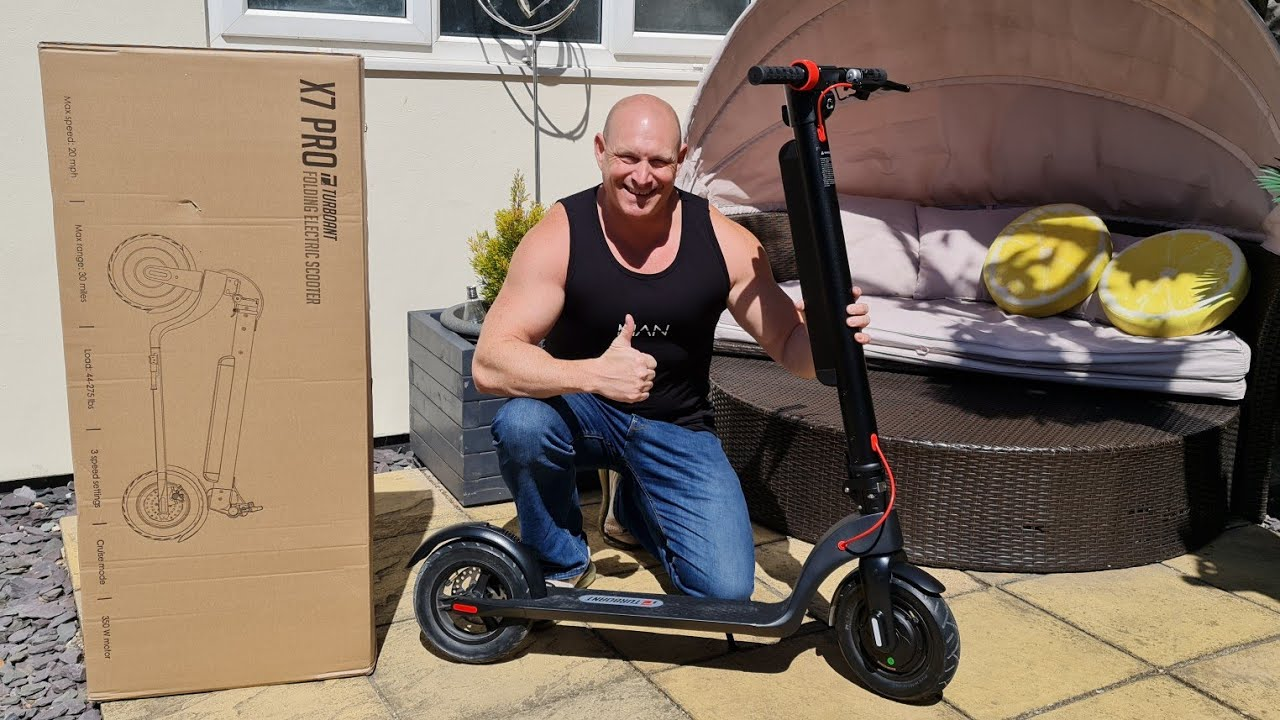 Turboant electric scooter,unboxing,setup & test ride