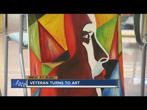Vietnam vet uses art to share life experiences