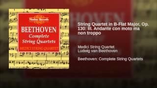 String Quartet in B-Flat Major, Op. 130: III. Andante con moto ma non troppo