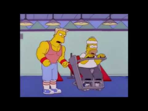 Simpsons gym motivation