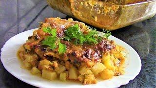 Мусака с кабачками ./Кабачки рецепты ./Кабачки с фаршем ./ Мусака рецепт ./Мусака с картофелем.