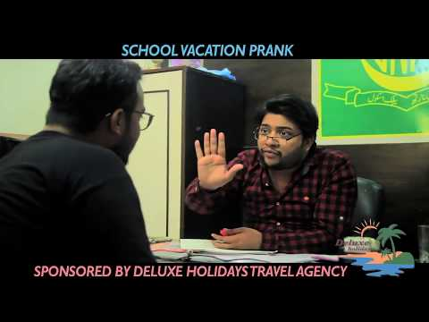 PROMOTIONAL PRANK   DELUXE HOLIDAYS   TRAVEL AGENCY & TOUR OPERATOR