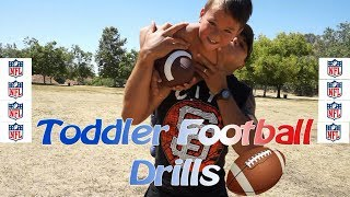 DAY IN THE LIFE OF A TODDLER//TODDLER FOOTBALL DRILLS