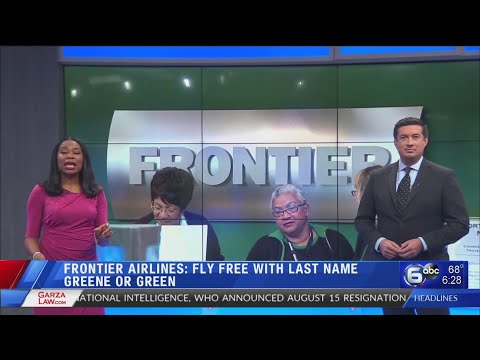 Craig Stevens - Frontier offering free flights for those with last name 'Green' or 'Greene'