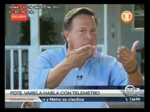 Telemetro entrevista exclusiva del presidente Juan Carlos Varela