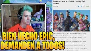 Ninja reacciona a *DEMANDA* De Epic a YouTubers MUY FAMOSOS Por esto... -  TFU€ Es Trolleado