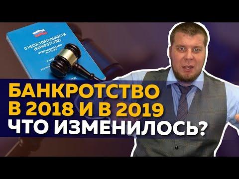 Банкротство физических лиц в 2018 и 2019 гг. Изменения в законе о банкротстве физ лиц