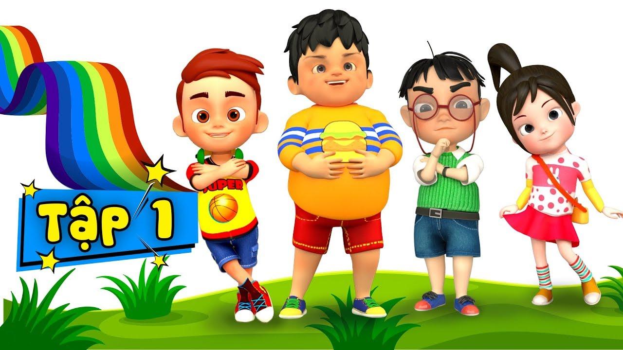 Bé học bài chăm chỉ - Nhạc thiếu nhi vui nhộn kỹ năng sống cho bé ♥ Phim hoạt hình thiếu nhi - Tập 1