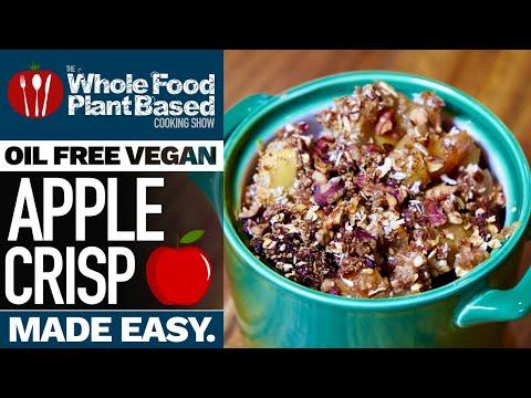 TASTY VEGAN APPLE CRISP 🍎 Dive into sugar-free comfort food!