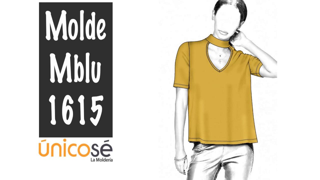 DIY Costura patrón Blusa cuello Choker. - YouTube