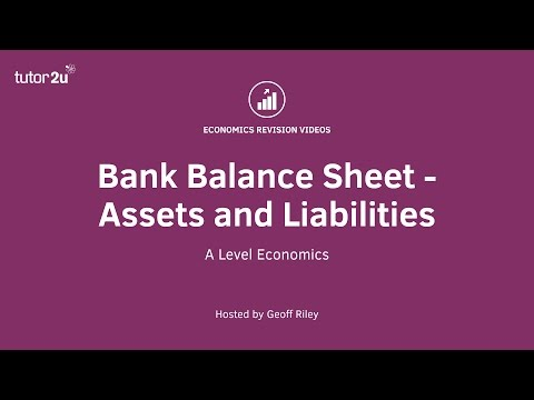 Balance Sheet for Commercial Banks