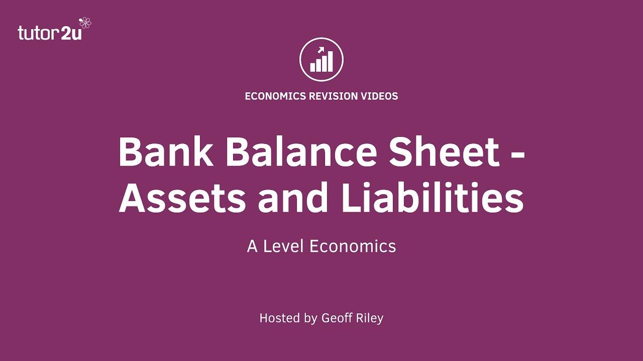 Balance Sheet for Commercial Banks