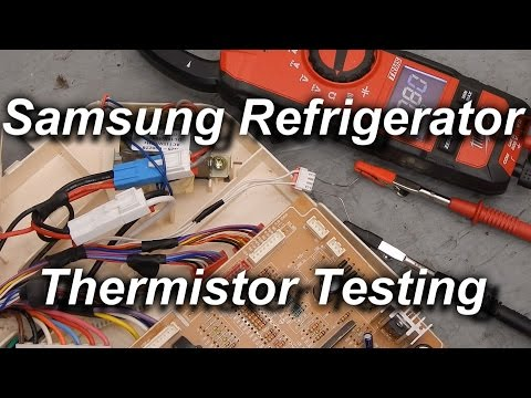 How to Test Samsung Refrigerator Thermistors - YouTube