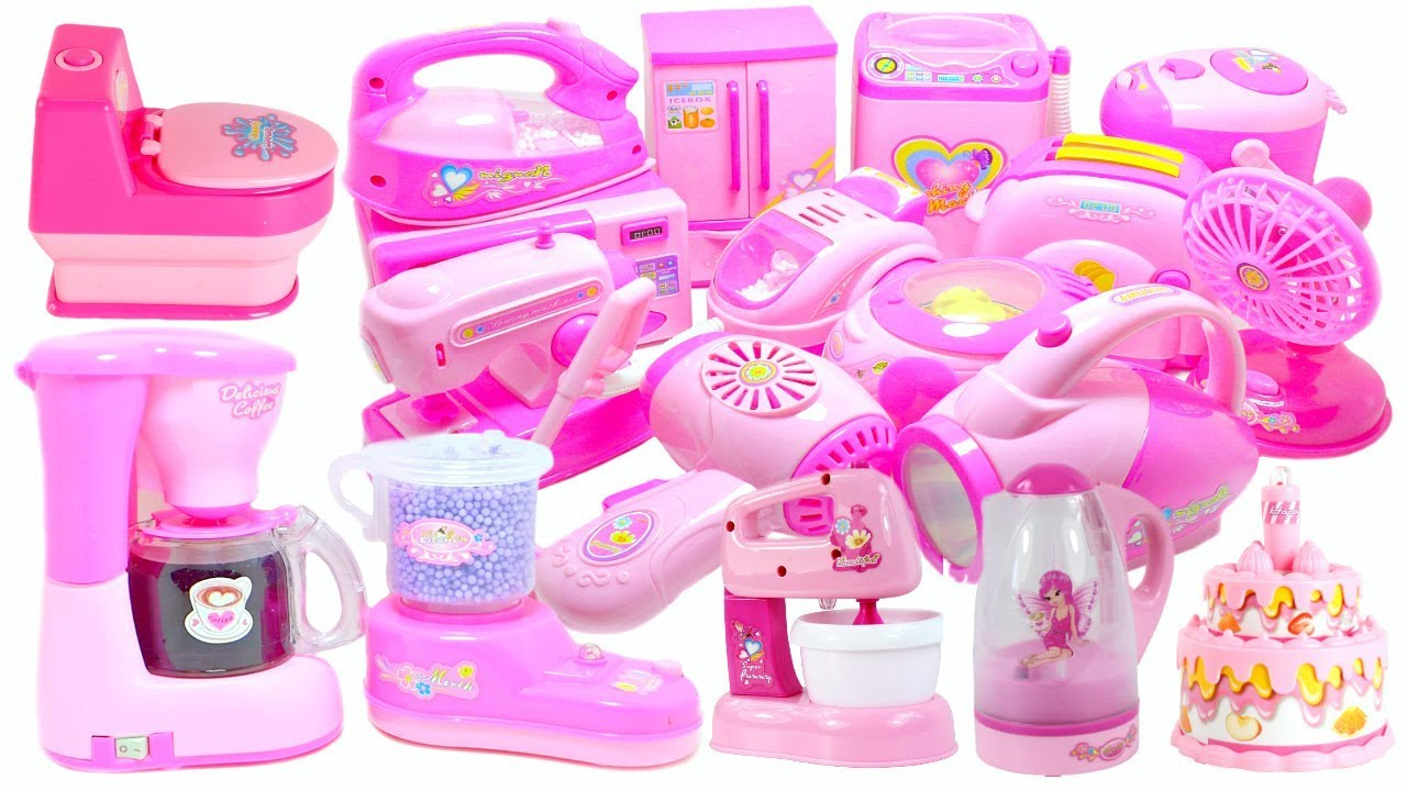 Pink Kitchen U0026 Home Appliance Cooking Toys For Kids Compilation