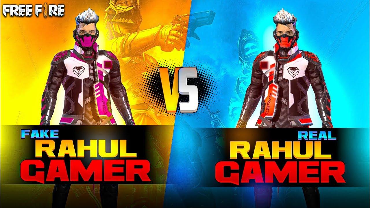 Fake Rahul Gamer Vs Real  Rahul Gamer ?❤️ - कोन है असली राहुल ? - Garena Free Fire