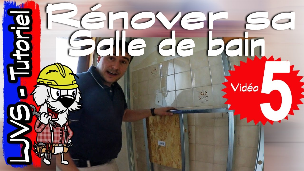 Comment renover une salle de bain partie 5 tutoriel ljvs youtube - Renover une salle de bain carrelee ...