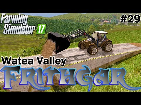 Let's Play Farming Simulator 2017, Watea Valley #29: Wood Chips And Ramps!