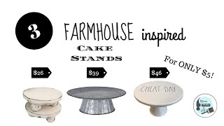 DIY Cake Stands | Dollar Tree Cakes Stands | $5 Turned Into 3 Cake Stands