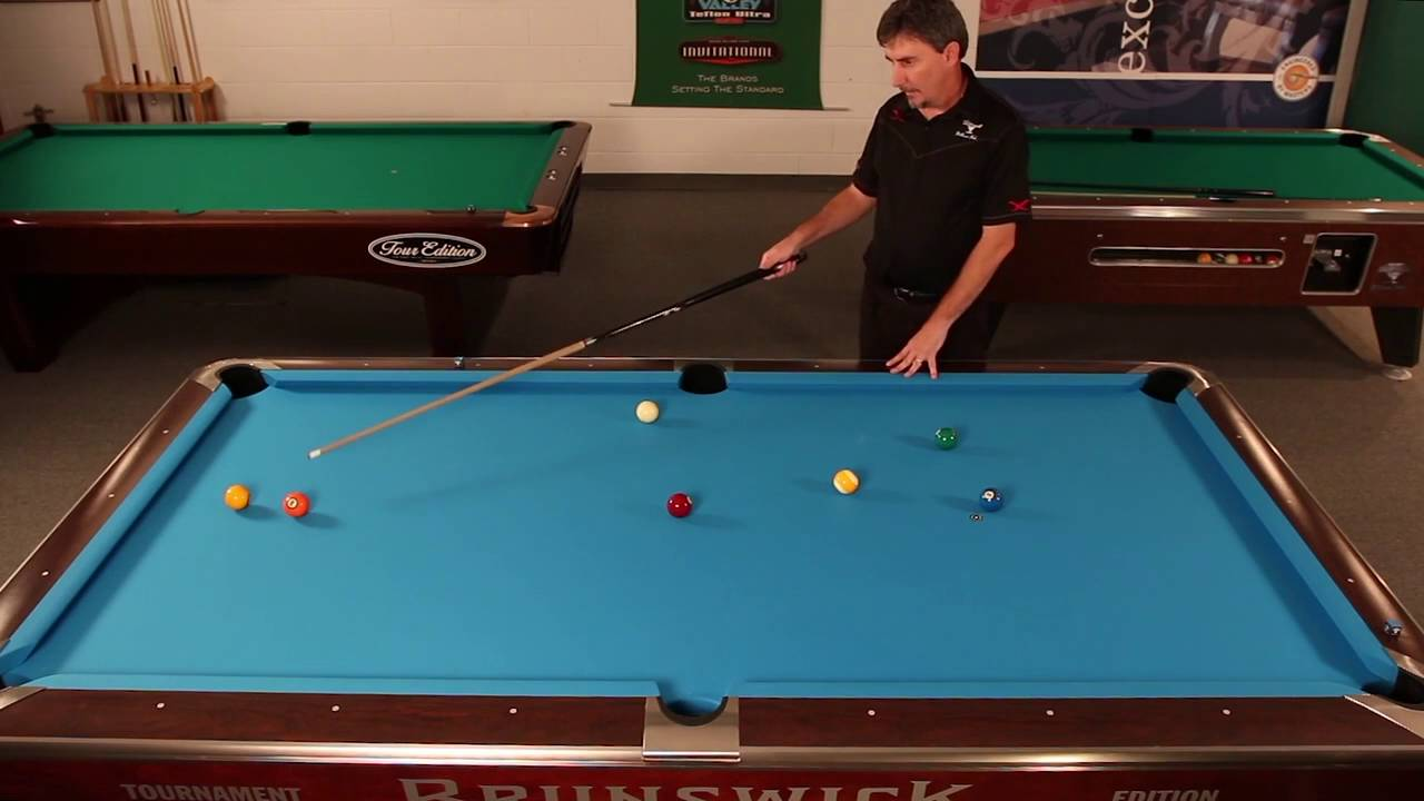 Championship Billiard and Johnny Archer with his Safety Shot