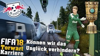 ZUG UNFALL bei LEIPZIG NACH DFB POKAL HALBFINALE!?😱  Fifa 18 Torwart Spielerkarriere + STORY