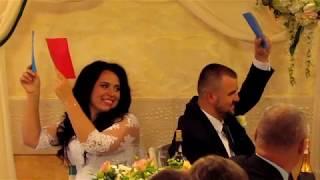 """Конкурс """"Вопросы молодоженам"""" и ломание каравая на свадьбе 2018 Запорожье тамада ведущая Мария"""