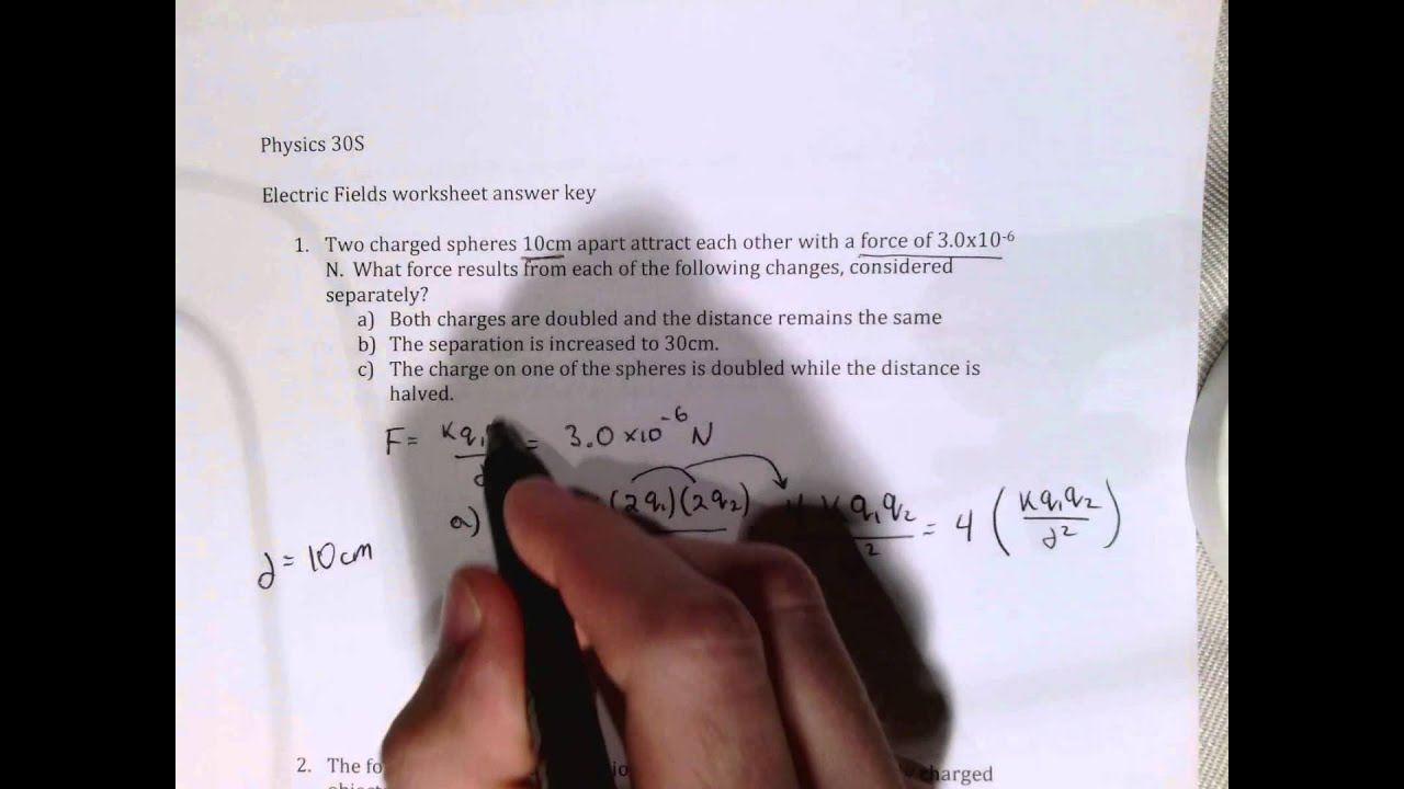 Electric fields worksheet question 1 youtube robcynllc Choice Image