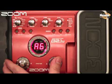 Zoom B2.1u Bass Multi Fx Processor Demo
