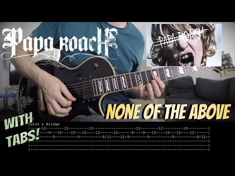 Papa Roach 'None Of The Above' (New Song) - Guitar COVER & LESSON with TABS