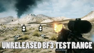 Unreleased Test range in BF3! - scrapped features from Battlefield