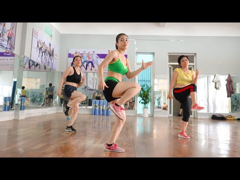 28 Mins Aerobic Reduction Of Belly Fat Quickly - Dance Workout Easy Steps // Amg Fitness