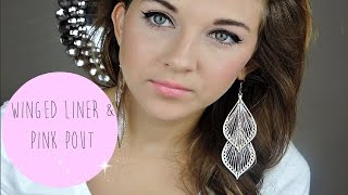 Back to School Makeup Look | Winged Liner and Pink Pout Thumbnail