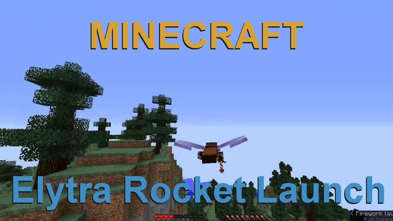 Elytra launching with Firework Rockets and how to craft a Rocket in  Minecraft