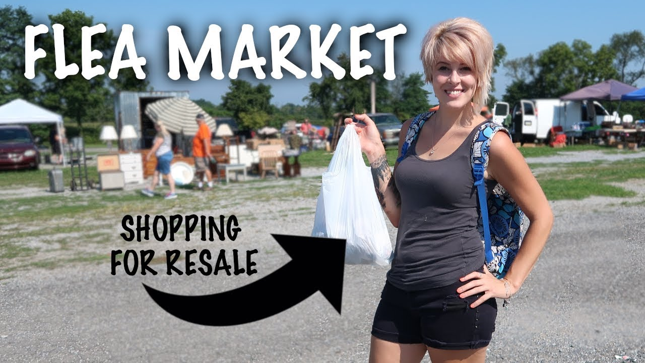 Way Too Hot But We Went Flea Market Shopping Anyway Mystery Unboxing Reselling Youtube
