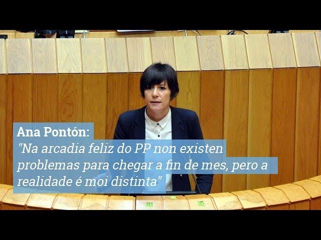Répica de Ana Pontón ao conselleiro de economía no debate dos Orzamentos 2018