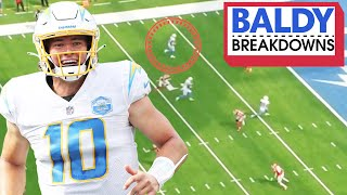 Breaking Down Justin Herbert's Impressive NFL Debut vs. the Super Bowl Champs | Baldy Breakdowns