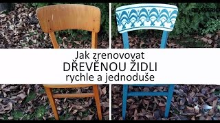 Renovace židle se sprejem Zero