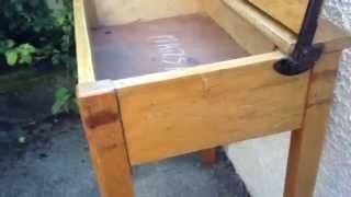 Antique School Desk Solid Oak Rustic Desk