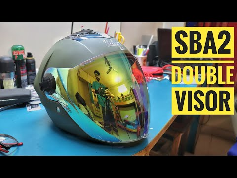 1d2a6d44 SBA 2 Double Visor with Night Vision Unboxing | Steelbird Helmets - YouTube