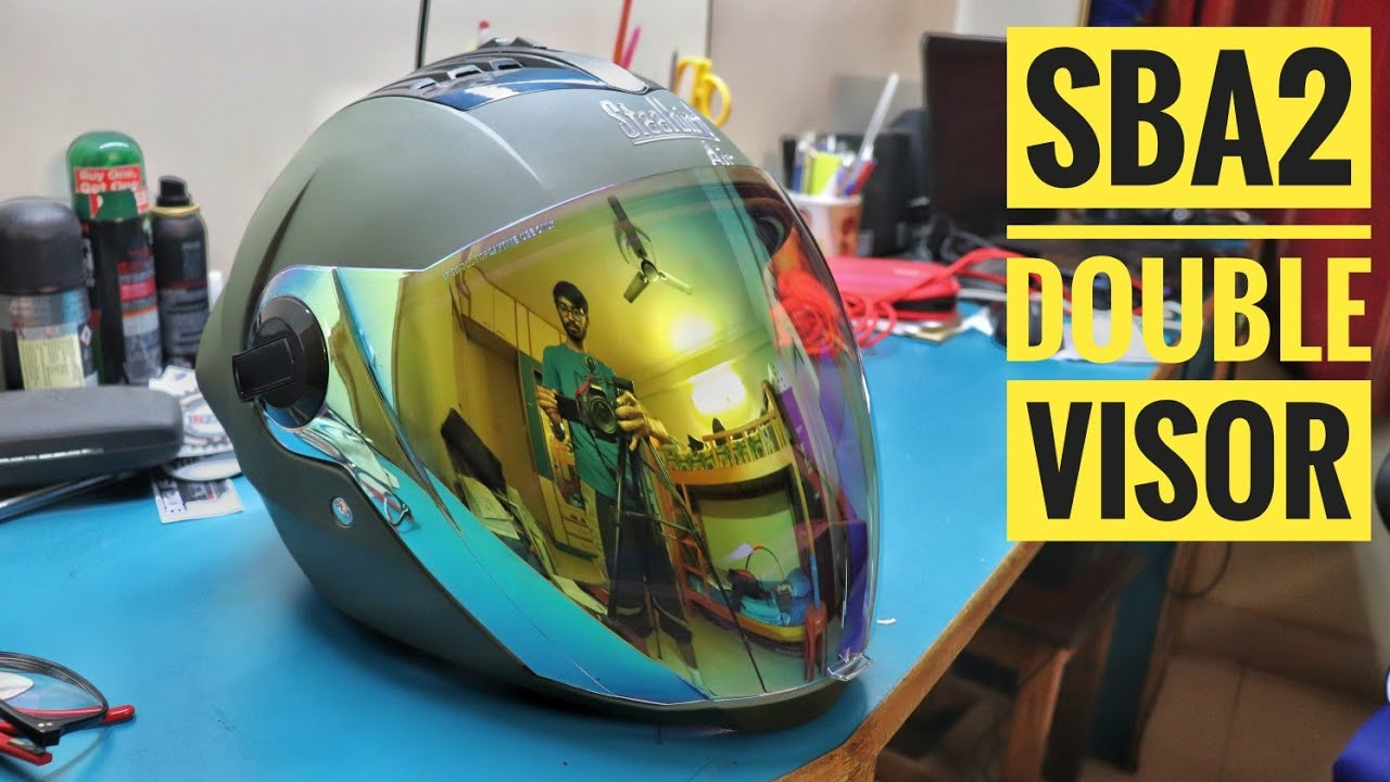 d04cc7bf SBA 2 Double Visor with Night Vision Unboxing   Steelbird Helmets ...