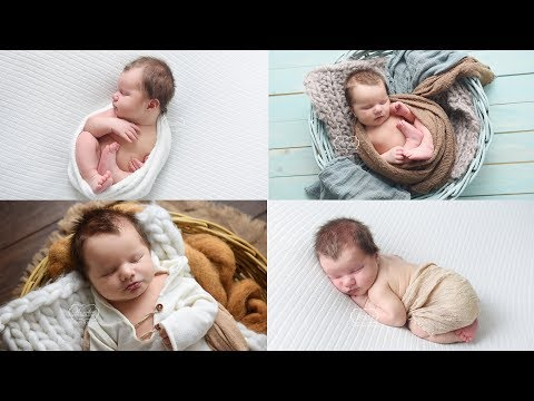 How to Photograph a Newborn Baby (My workflow & Wrapping technique & Newborn Photoshoot BTS)