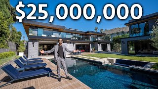 Download Inside a $25,000,000 Los Angeles Modern Home with Detached Guest Home & Tennis Court