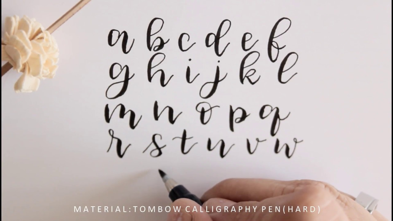 handlettering for beginners - how to write with Tombow brush pen