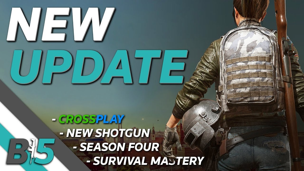 PUBG NEW PTS UPDATE   CROSSPLAY, DBS Shotgun, Survival Mastery, Season 4, And More (Xbox One/PS4)