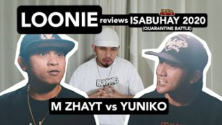 LOONIE | BREAK IT DOWN: Rap Battle Review E169 | ISABUHAY 2020: M ZHAYT vs YUNIKO
