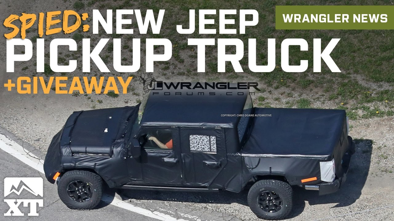 2019 Jeep Jt Wrangler Pickup Truck Spied Fender Flare Giveaway News