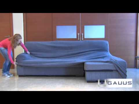 C mo coloco una funda el stica en mi chaise longue youtube - Fundas para sofas con chaise longue ...