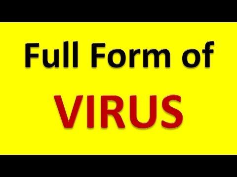 Full Form of VIRUS - YouTube