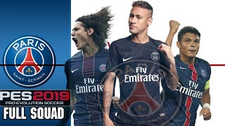 PES 2019 PSG Players Overall Ratings