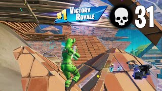 31 Elimination Solo vs Squads Win Gameplay Full Game Season 6 (Fortnite PC Keyboard)