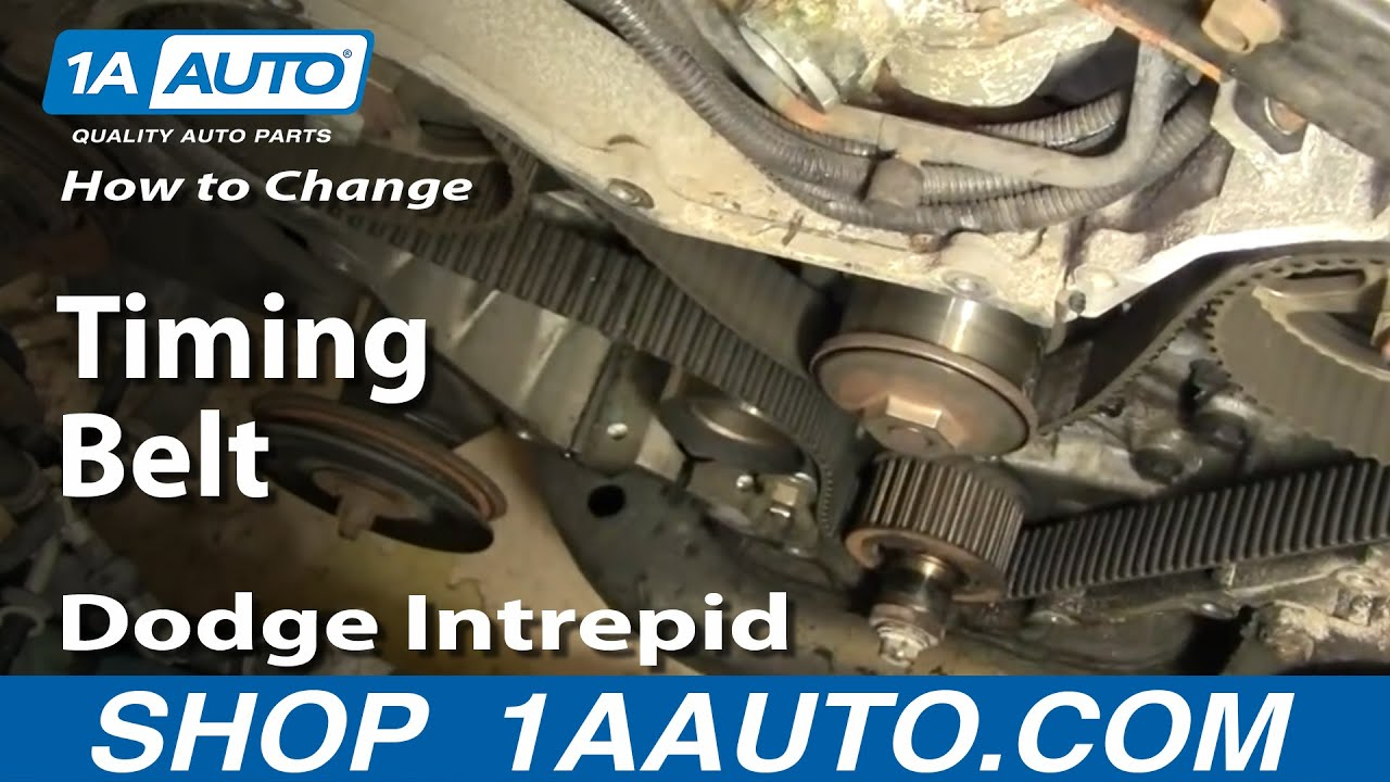 how to replace timing belt part 1 95 97 dodge intrepid [ 1280 x 720 Pixel ]